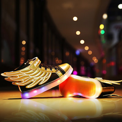 Kinderschoenen met lampjes 'golden wings'