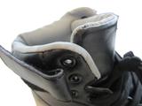 Maat 36: Kinderschoen hoog zwart met licht en vlekje_