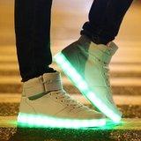 led schoenen hoog wit