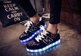 sneakers met ledjes