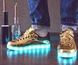 goud schoenen led