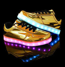 Led schoenen goud (mt 36-38)