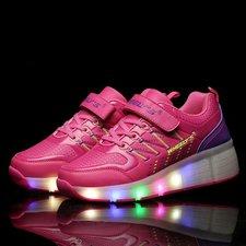Schoenen met lichtjes weelys roze, mt 35