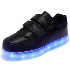 Kinderschoenen met leds zwart (mt 25-34)