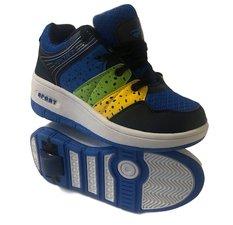 Maat 32: schoenen met wieltjes blauw/groen