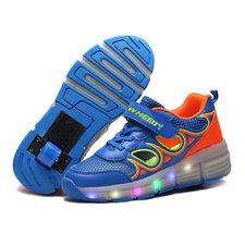 Maat 37: Wiel schoenen zonder lichtjes blauw