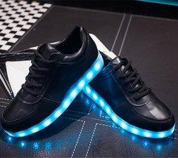 Ledschoenen zwart