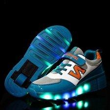 B-keus, Maat 32, lichtgevende schoenen met wieltjes 'N green'