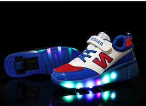 Lichtgevende schoenen met wieltjes 'N blue'