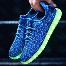 Led schoenen trendy blauw