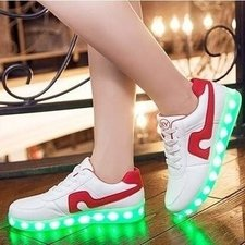 Ledschoenen light up! (rood)