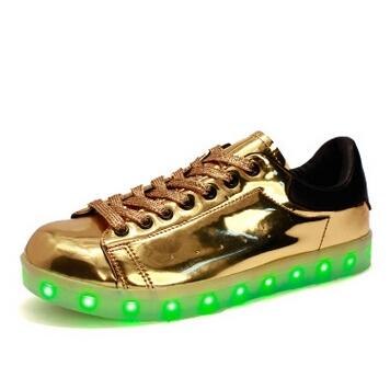 Led schoenen goud (2)
