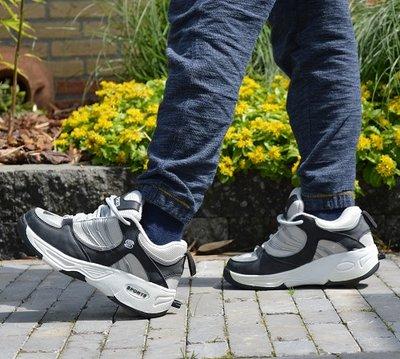 Sportschoenen met wieltjes grijs/zwart