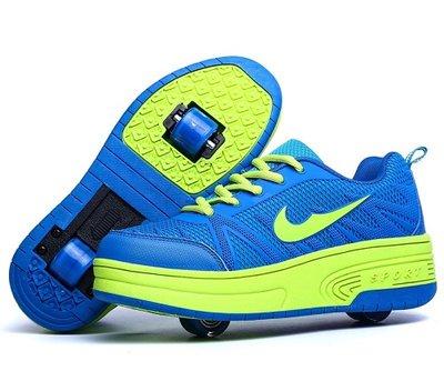 Schoenen met 4 wieltjes 'like sport blue'