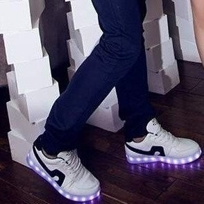 Simulation schoenen light up! (zwart)