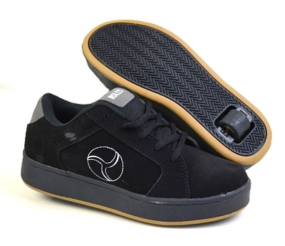 Rollys rolschoenen suede zwart