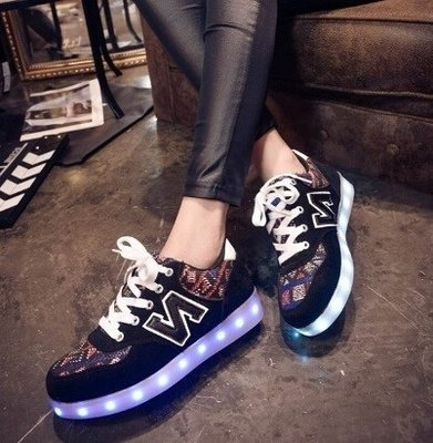 Led sneakers spring lights