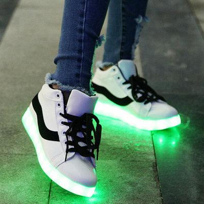 Led sneakers street life (zwart)