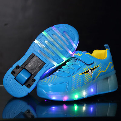 Rolschoenen met lichtjes sporty blue