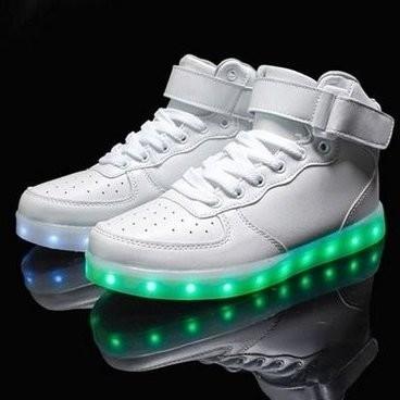 Led schoenen hoog model wit