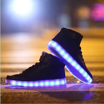 Led schoenen hoog model zwart