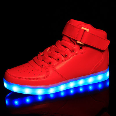 Led schoenen hoog model rood