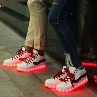 Led sneakers street life (rood)