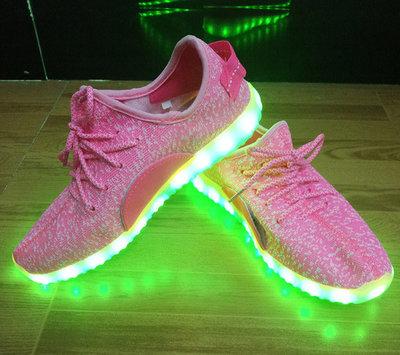 Led schoenen trendy roze