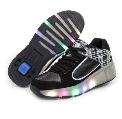 Wiel schoenen skate (wit/zwart)