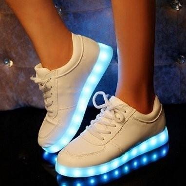 Led schoenen laag model wit