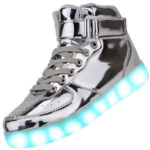 hoge led schoenen zilver