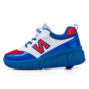 B-keus, Maat 33: schoenen met wieltjes N-blue