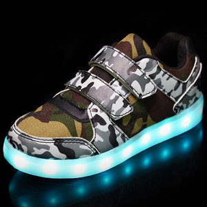 Led schoenen camouflage army (mt. 26-37)