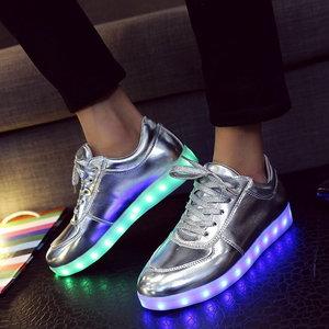 zilver led schoenen