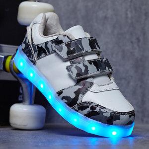 Led schoenen camouflage wit
