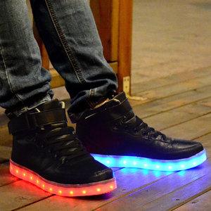 Schoenen Kinderschoenen.Hoge Kinderschoenen Met Lichtjes Zwart