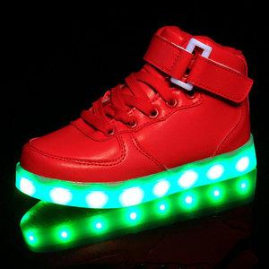 Schoenen Kinderschoenen.Hoge Kinderschoenen Met Lichtjes Rood